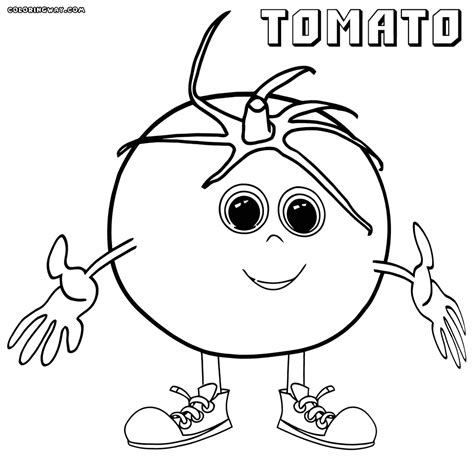 free coloring pages of i tomato