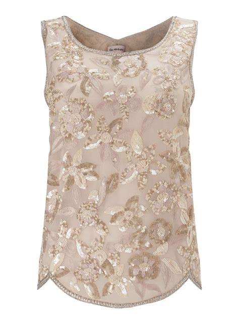 beaded tops premium embellished sequin shell top miss selfridge