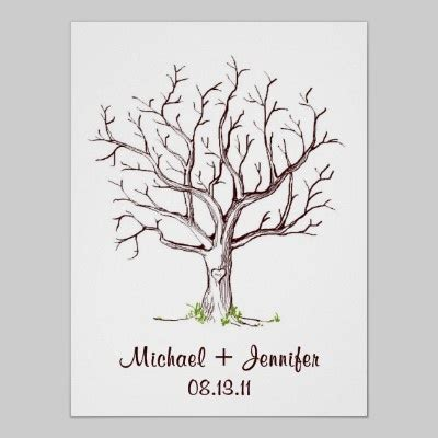 fingerprint tree card template best 25 wedding fingerprint tree ideas on