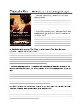 Cinderella Film Quiz | cinderella man movie quiz and writing prompt tpt