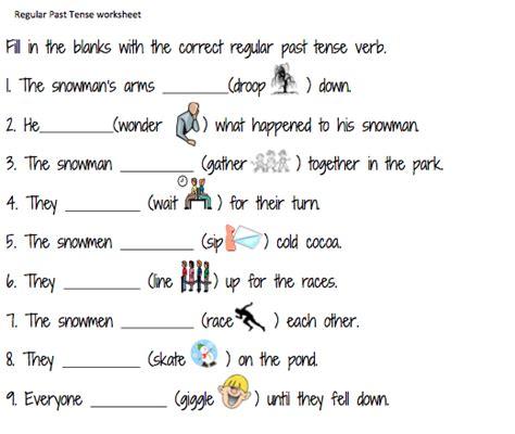 Past Tense Verbs Worksheets by Irregular Verbs Simple Past Tense Worksheets The Simple