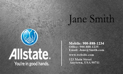Allstate Insurance Card Template by Insurance Business Card Allstate Agents Card Designs