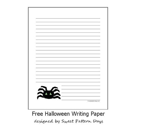 october writing paper free spider lined writing paper october