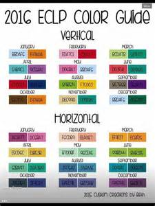 monthly colors hex codes erin condren code for erin