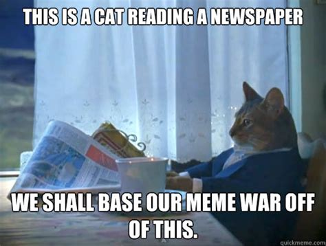 Dad Reading Newspaper Meme - cat reading newspaper meme memes