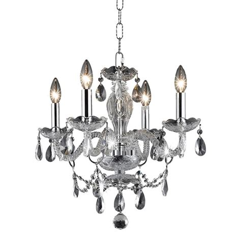 Chandelier Home Depot by Lighting 4 Light Chrome Chandelier With Clear El7834d17c Rc The Home Depot