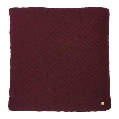 Quilted Chair Cushions by Buy Ferm Living Quilted Cushion 45x45cm Bordeaux Amara