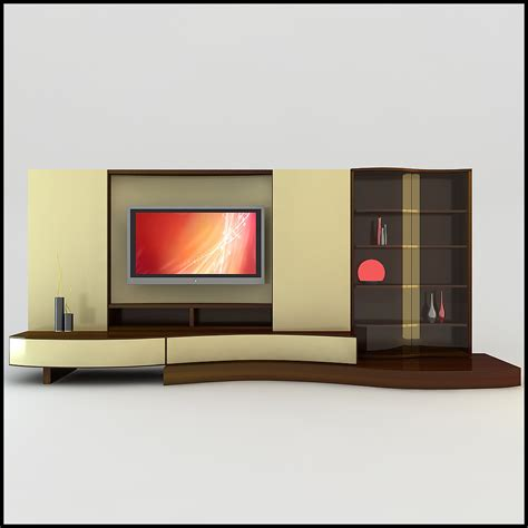 modern tv wall tv wall unit modern design x 17 3d models cgtrader com