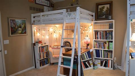 ellies loft bed room  updated  peas youtube