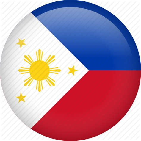 Circle Country Flag Nation National Philippines Icon Philippines National Flag Coloring