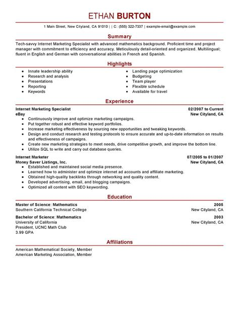 best marketer and social media resume exle livecareer