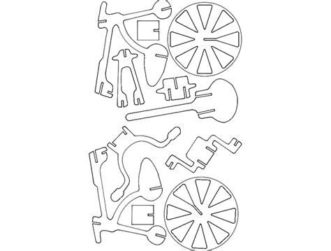 bicicleta  puzzle dxf file   axisco