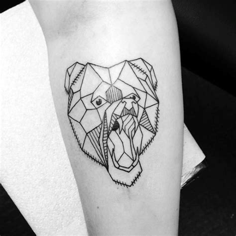 bear outline tattoo 60 geometric designs for manly ink ideas