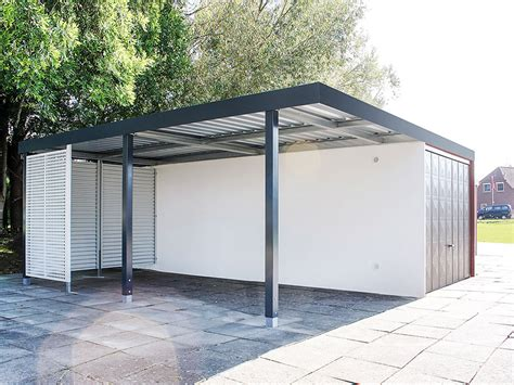 Garage Mit Carport by Reihencarports Und Garage Carport Kombinationen Carceffo