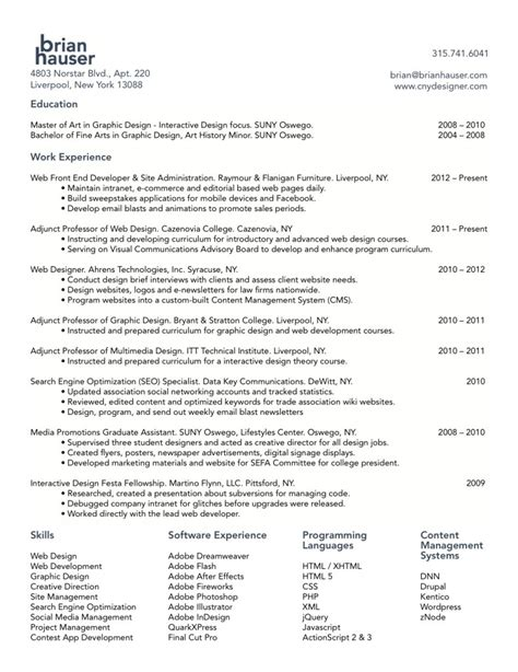 Sample Resume For Net Developer by Web Developer Resume Designer Graphic Pdf Hauser Developer