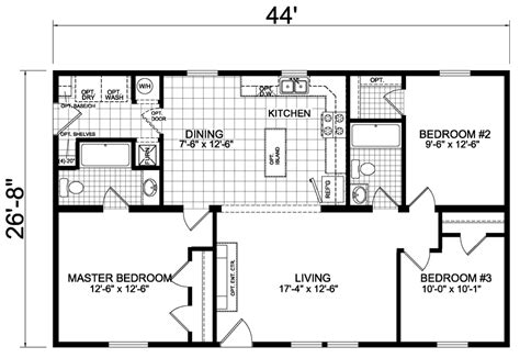 home builders floor plans skyway 27 x 44 1174 sqft mobile home factory expo home