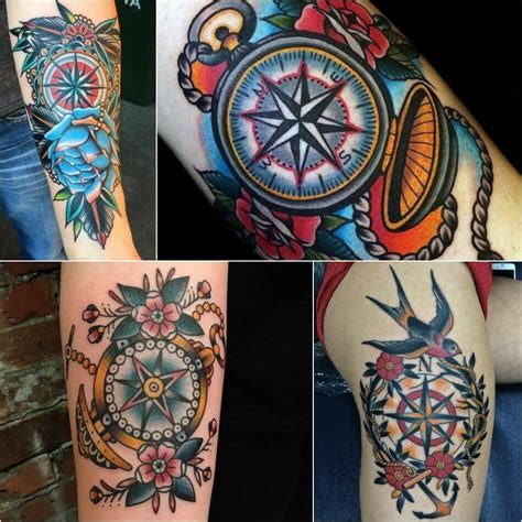 old school tattoo designs and meanings compass designs popular ideas for compass tattoos