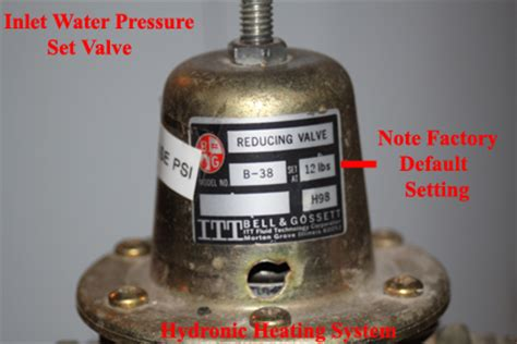 how to increase water pressure in house hydronic heating system system pressure regulation