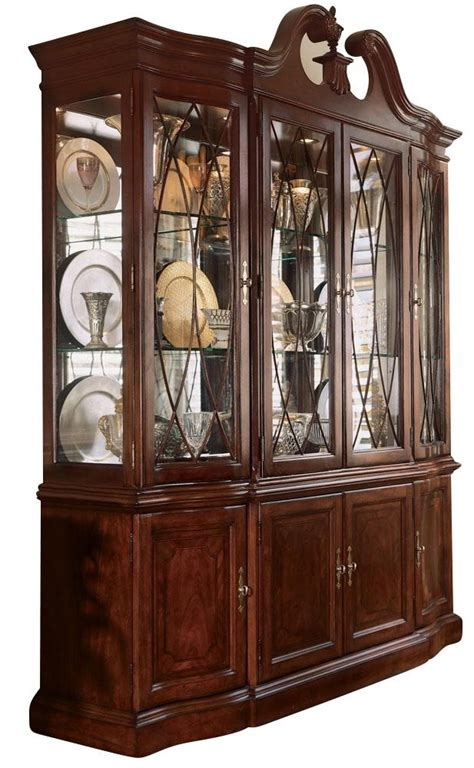 drew cherry grove china cabinet drew cherry grove breakfront china cabinet by