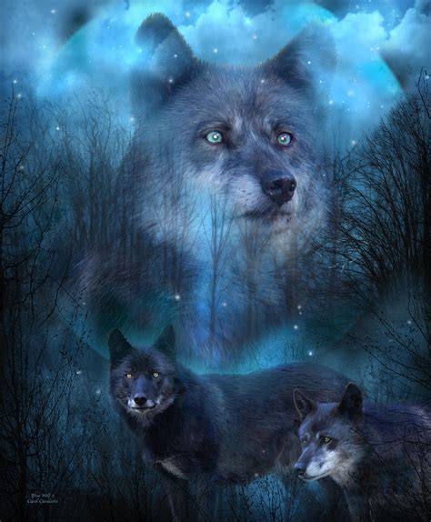 the last wolf the legend of all wolves books legend of the blue wolf mixed media by carol cavalaris