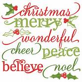 Christmas Words Set cute christmas words clipart SVG cutting files ...