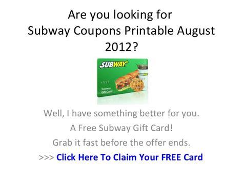 printable subway coupons 2012 subway coupons printable august 2012