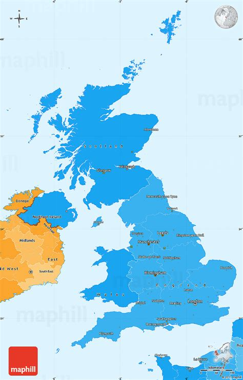 map of united kingdom political shades simple map of united kingdom