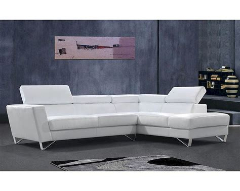 White Sectional Leather Sofa Modern Modern Style Sectional Sofa In White Or Beige Leather 44l6049