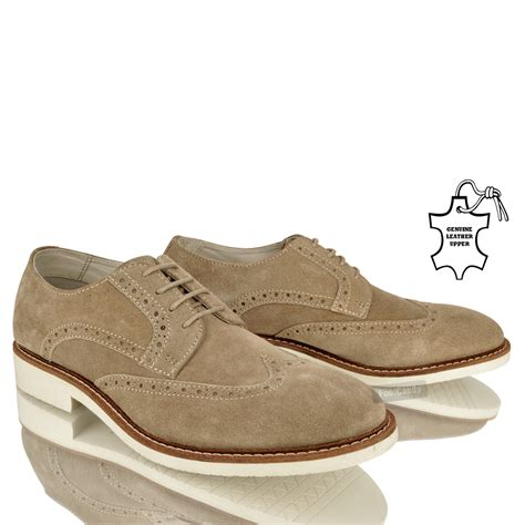 mens gents comfort vintage casual formal lace up leather