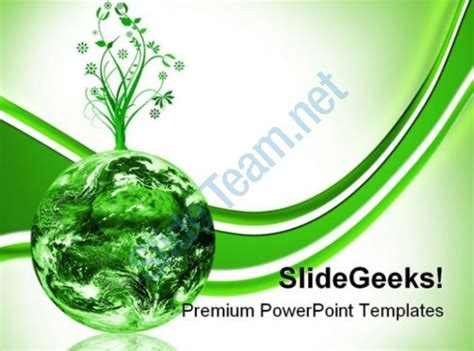 Green Earth Concept Environment Powerpoint Templates And Powerpoint Backgrounds 0211 Microsoft Environmental Powerpoint Templates