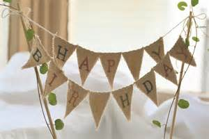 cake topper banner happy birthday cake topper baker banner in tea dyed by atcompanyb