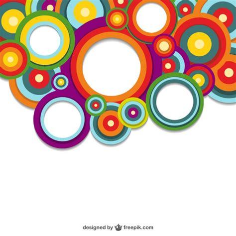 imagenes vectores colores fondo de c 237 rculos de colores vectorial descargar