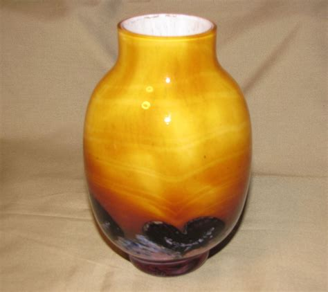 Caithness Glass Vases by Lovely Butterscotch Glass Vase Caithness Glass From