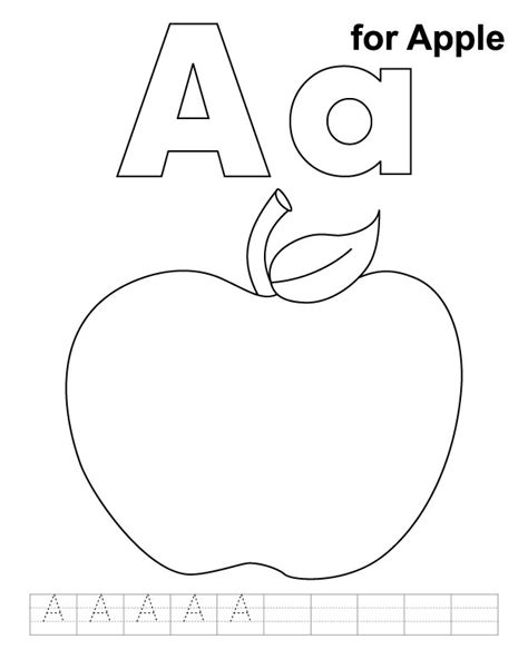 coloring page letter aa letter aa printable coloring pages apple color sheet free