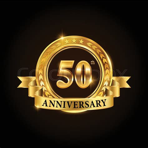50 years anniversary golden 50 years anniversary celebration logotype golden
