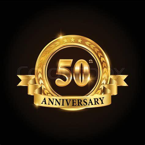 50 years anniversary celebration     Stock Vector