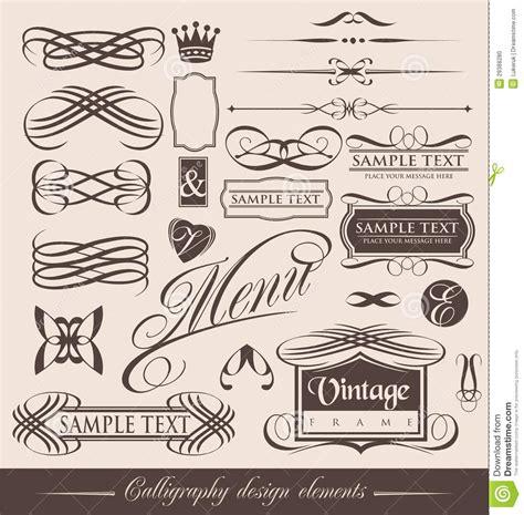 design vintage vintage calligraphic design elements stock photo image