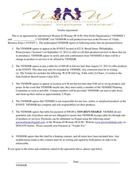 fashion designer contract template w o w gala vendor agreement