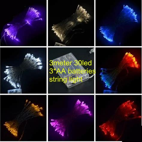 led battery light 3m 30leds christmas string christmas