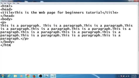design html website using notepad how to create your first web page using notepad youtube