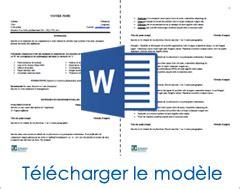 Canevas Cv Word by La Recette Pour Un Curriculum Vitae Gagnant Mod 232 Le De Cv