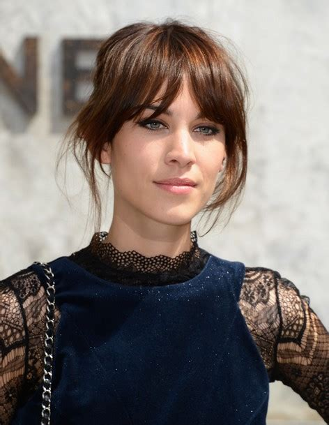 2014 Alexa Chung Hairstyles: Updo Hair Style   PoPular
