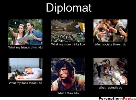 What I Do Meme - diplomat what people think i do what i really do
