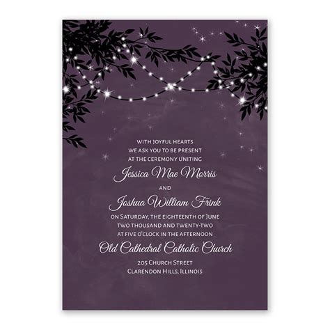 garden lights wedding invitations uk string of lights invitation with free response postcard