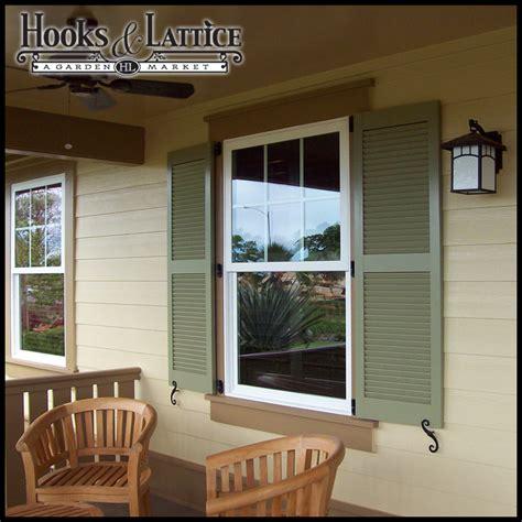 fake window outside house window shutters exterior shutters hooks lattice