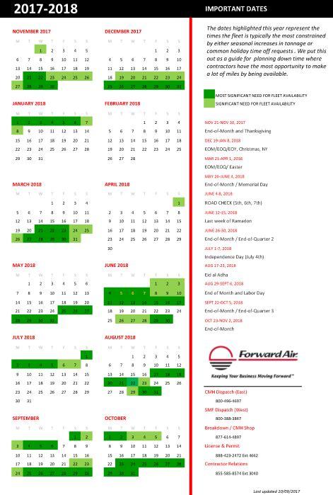 Calendar Drive Forward Air Drive Faf Inc Upcomingcarshq