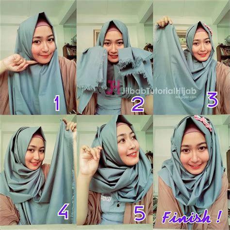 tutorial hijab yang sederhana cara memakai jilbab sederhana sehari hari tutorial terbaru