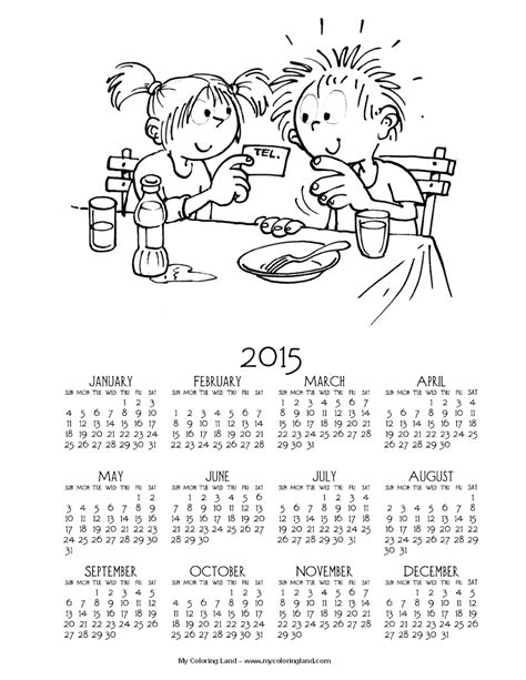 free colorful printable planner 2015 8 best images of 2015 calendar free printable coloring