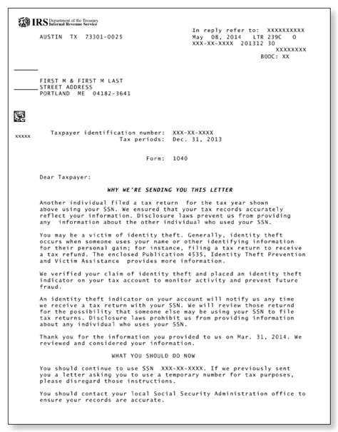 irs letter 4883c irs lock in letter exle docoments