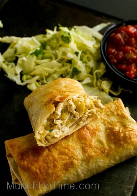easy minute chicken chimichanga recipe munchkin time